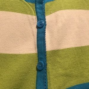 Field Gear Woman Sweaters - Field Gear Womans Button Up Striped Sweater Blue